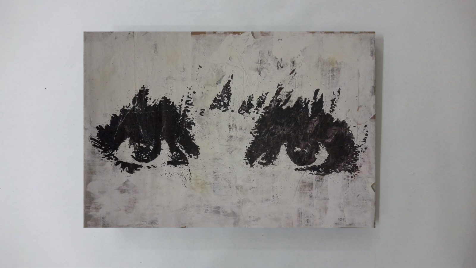 Portrait, Portraiture, Realism, Contemporary Art | Dimensions: 150 x 100 cm. | Technique: Mixed Media | Over Painted Paper [Verso]. | Supporting Material: Paper. | Materials: Acrylic Paint | Chinese Ink | Spray Paint | Marker | Tape | Paper. | Recto: As seen in the photo. | Verso: Black.